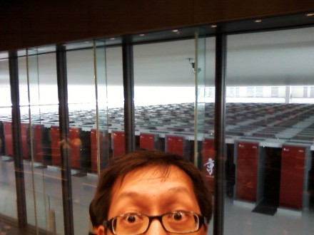 Rich at the K Supercomputer facility in Kobe, Japan