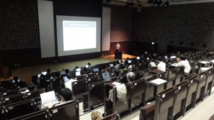 Speaker and audience at iWAPT'12 in Kobe, Japan